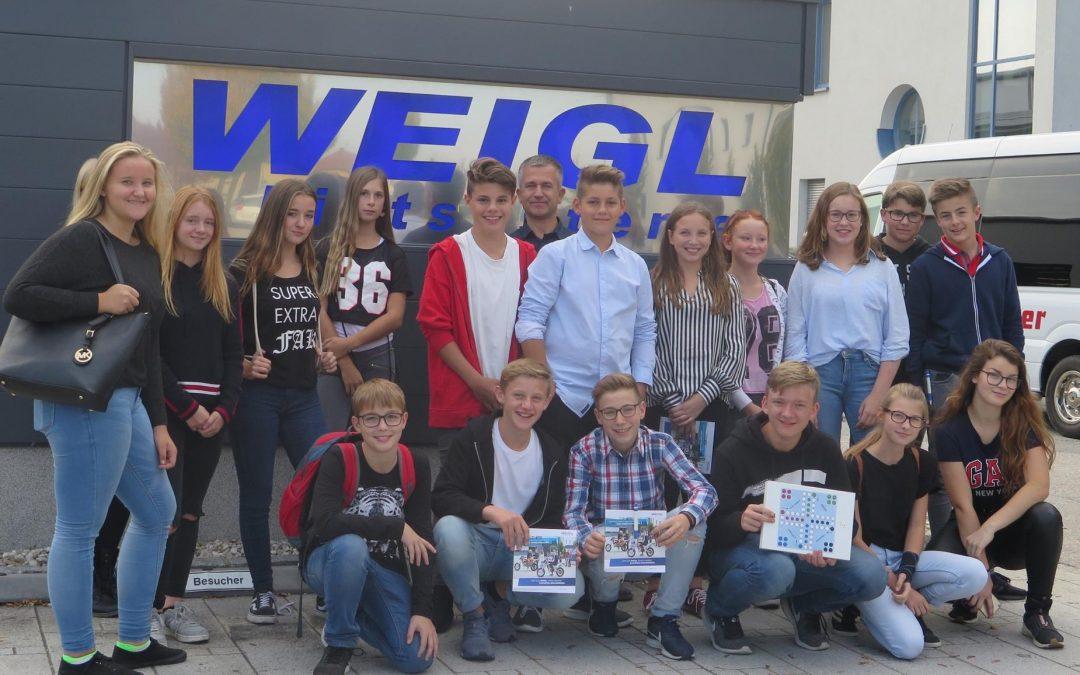 Lehrausgang zur Firma Weigl