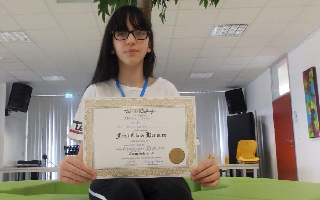 Großer Erfolg bei Englischwettbewerb