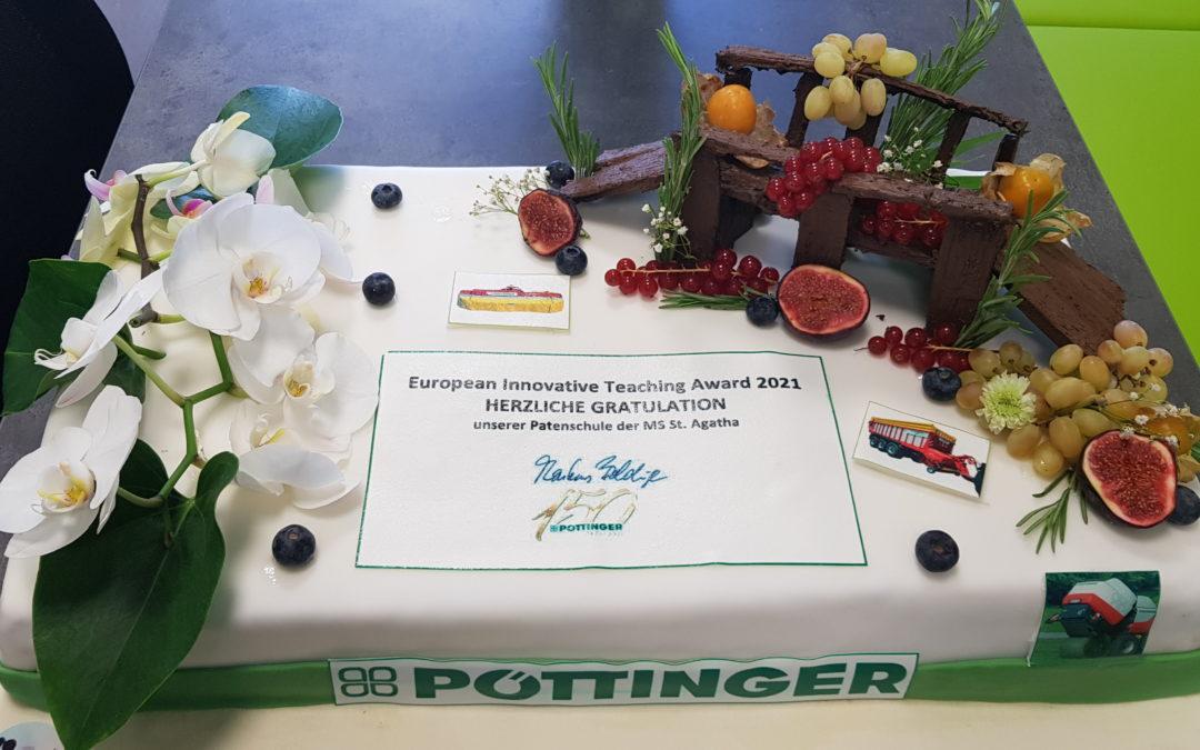 Glückwünsche durch Firma Pöttinger
